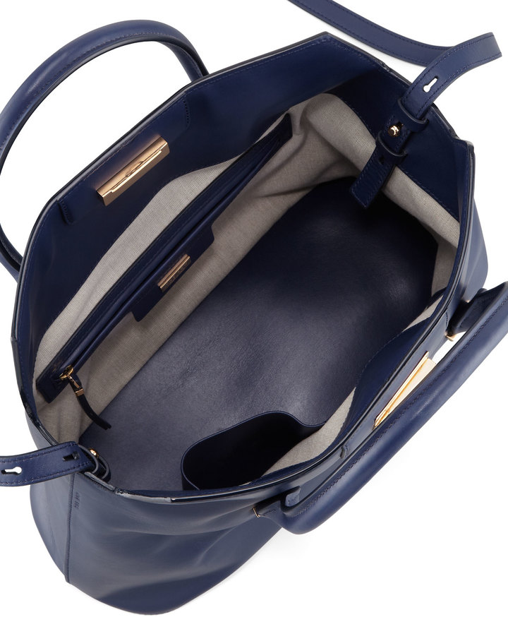 The Row The Carry All Leather Tote Bag, Imperial Blue