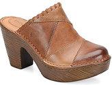 Børn Michalea Leather Paneled Block Heel Slip-On Clogs