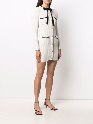 Self-Portrait Lurex Knit Mini Dress