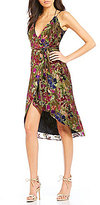 Gianni Bini Morgan Lurex Velvet Faux Wrap Dress