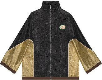 Gucci Crepe lurex kimono jacket