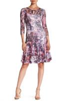 Komarov Fit & Flare Printed Dress