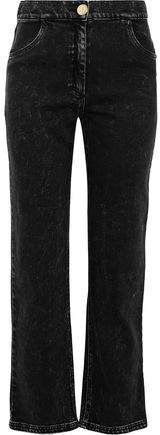 Balmain Faded High-rise Straight-leg Jeans
