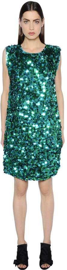Gianluca Capannolo Sequined Crepe Dress