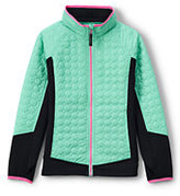 Lands' End Little Girls Primaloft Hybrid Jacket-Purple