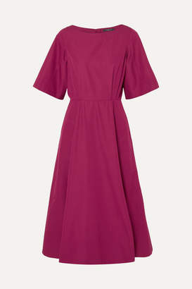 Derek Lam Cutout Cotton-taffeta Midi Dress - Plum