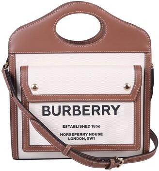Burberry Mini Two-Tone Pocket Bag