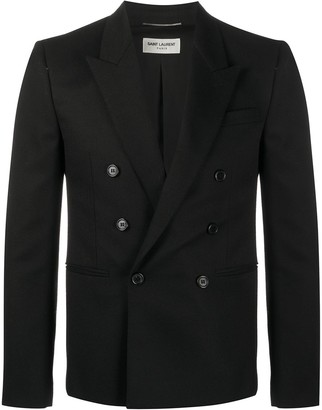 Saint Laurent Double-Breasted Fitted Blazer