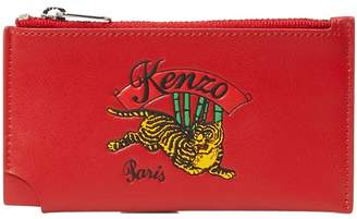 Kenzo Leather jumping tiger cardholder