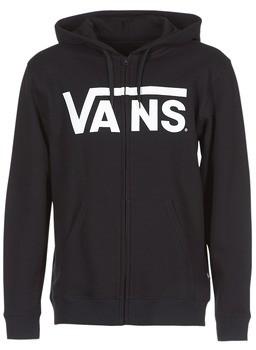 Vans CLASSIC ZIP HOODIE men's Sweatshirt in Black