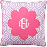 Pottery Barn Teen Mix & Match Daisy Monogram Pillow Cover, Pool Center/Palace Blue Ground