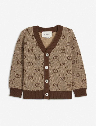 Gucci GG logo knitted wool-blend cardigan 3-36 months