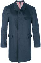 Thom Browne concealed placket coat