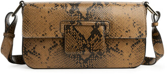 Arket Snake Print Leather Bag