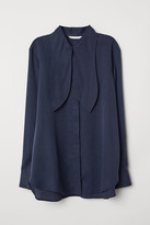 H&M Lyocell tie-front blouse