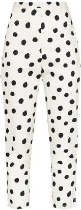 Adriana Degreas Cropped Polka Dot Trousers