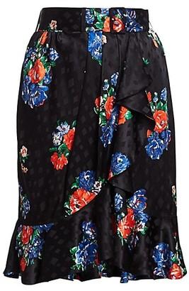 Tory Burch Floral Silk Skirt