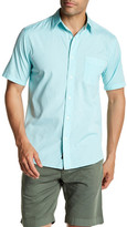 Faherty Short Sleeve Solid Regular Fit Shirt