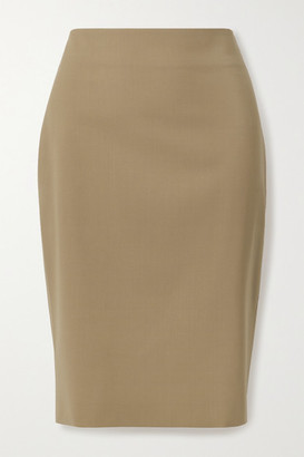 Theory Stretch-wool Skirt - Camel