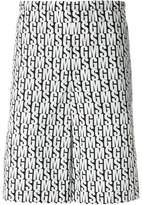 MSGM branded Bermuda shorts