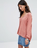 B.young January Tie Neck Woven Blouse