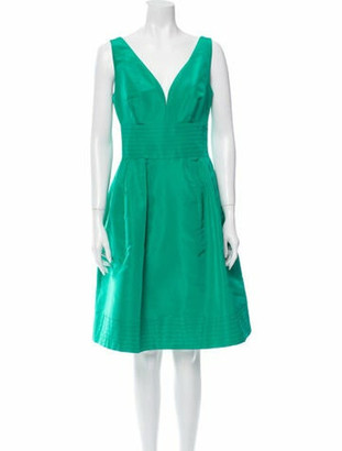 Oscar de la Renta 2015 Knee-Length Dress w/ Tags Green