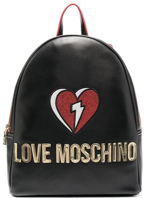 Love Moschino Fantasy logo-patch backpack
