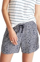 Madewell Women's Print Drapey Pull-On Shorts