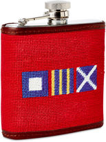 Smathers and Branson OKL Nautical Letters Flask, Red