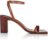 Balenciaga Women's Square-Toe Leather Sandals
