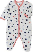 Petit Bateau Star-print cotton sleepsuit 1-36 months