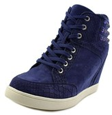 Aldo Braclya Women Leather Blue Fashion Sneakers.