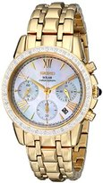 Seiko Women's SSC890 Stainless Steel Diamond-Accented Watch