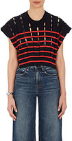 Alexander Wang Women's Slit Striped Cotton Sweater
