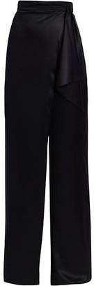 Cushnie High-Waist Silk Wide Leg Pants