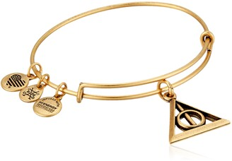 Alex and Ani Deathly Hallows EWB Rafaelian Gold Bangle Bracelet
