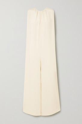 Off-White La Collection - Minako Cape-effect Silk Jumpsuit
