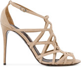 Dolce & Gabbana open toe strapped sandals - women - Leather/Suede - 38