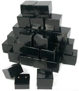 FindingKing 30 Black Velvet Earring Gift Box Jewelry Showcase Displays
