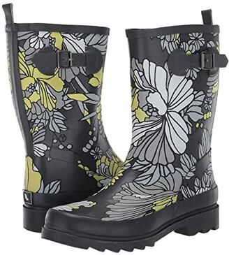 Sakroots Ringo (Slate Flower Blossom) Women's Rain Boots
