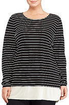Lauren Ralph Lauren Plus Striped Jersey Top