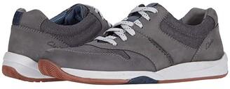 Clarks Langton Race (Black Nubuck) Men's Shoes