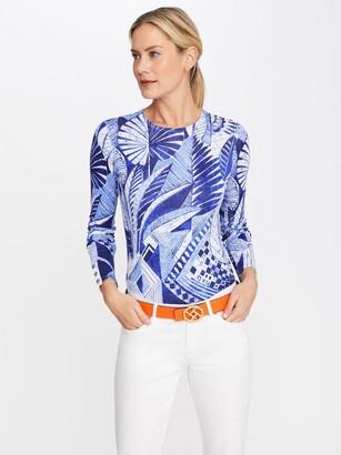 J.Mclaughlin Lenny Sweater in Royal Palm