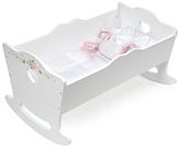 Badger Basket White Rose Doll Cradle with Bedding