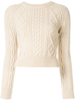 Chanel Pre Owned 1996 Cable-Knit Jumper