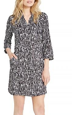 Nic+Zoe Rain Dots Printed Shirt Dress