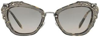 Miu Miu MU 04QS 390942 Sunglasses White