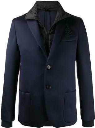 Fendi layered slim-fit jacket