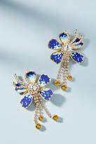 Shourouk Iris Flower Drop Earrings