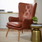 west elm Niels Leather Wing Chair